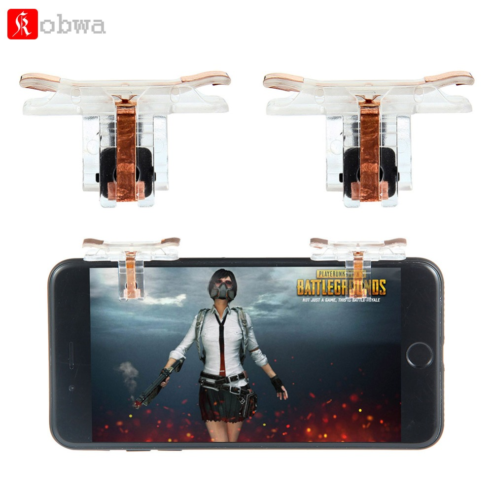Kobwa Generation 7 Mobile Game Controller for PUBG Fire Button Aim Key for Rules of Survival Smart Phone Game Shooter Controller