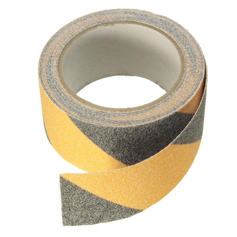NEW Yellow + Black 5m X 5cm Floor Safety Non Skid Tape Anti-slip Safe Self Adhesive Sticker High Grip