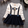 Hot Sale Cute Baby Girl Dress Cotton Children Kids Baby Girls Dresses O-Nnck Baby Autumn Clothing for Casual Wear Clothes Girl