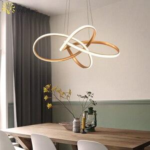 Image 2 - Đen/Vàng LED Hiện Đại Mặt Dây Chuyền Đèn Chùm Phòng Khách Phòng Ăn Nhà Bếp Phòng Họp Thanh Cafe Chiếu Sáng Nội Thất Đèn Chùm