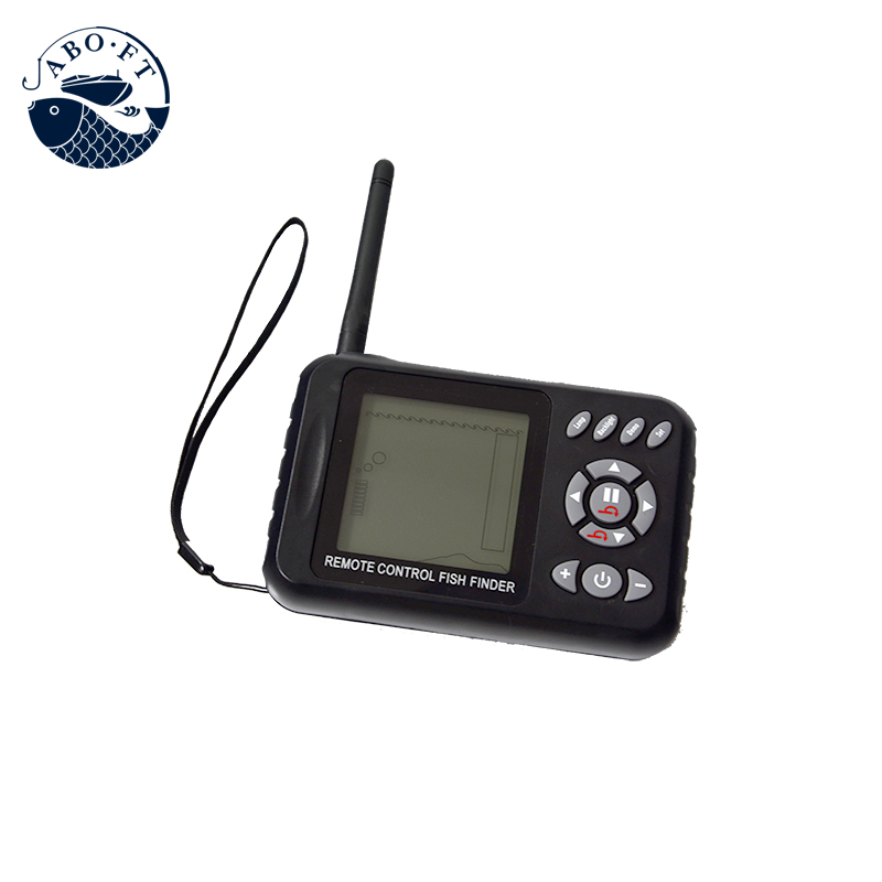 Free shipping remote controller with sonar fish finder for bait boat JABO-2BL RC fishing tools free shipping factory price catamaran hull jabo 5a long distance two hoppers rc bait boat for releasing hook
