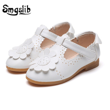 Children shoes girls Fashion Flower Kids Shoes For girls leather shoes princess Solid Hollow Casual Pretty children sneakers