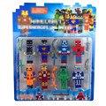 8 Pçs/lote Minecraft Jogo Brinquedo Brinquedos Blocos de Construção de Brinquedos de Ação Vingadores Super Herói Da Liga Da Justiça Figuras de Brinquedo Para O Presente