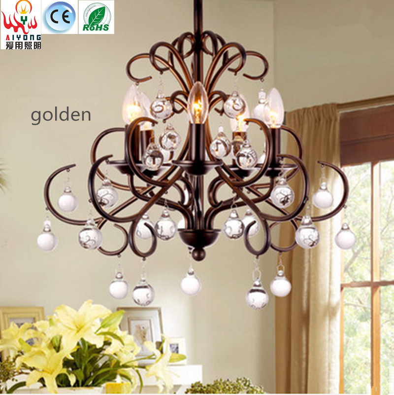 North American country retro chandelier crystal ceiling lamp iron shaped energy-saving simple living room lamp tested for xiaomi mi 5 mi5 lcd screen xiaomi 5 fhd display touch panel replacement digitizer assembly parts with free shipping