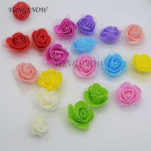 50Pcs/lot 3.5cm Mini PE Foam Roses