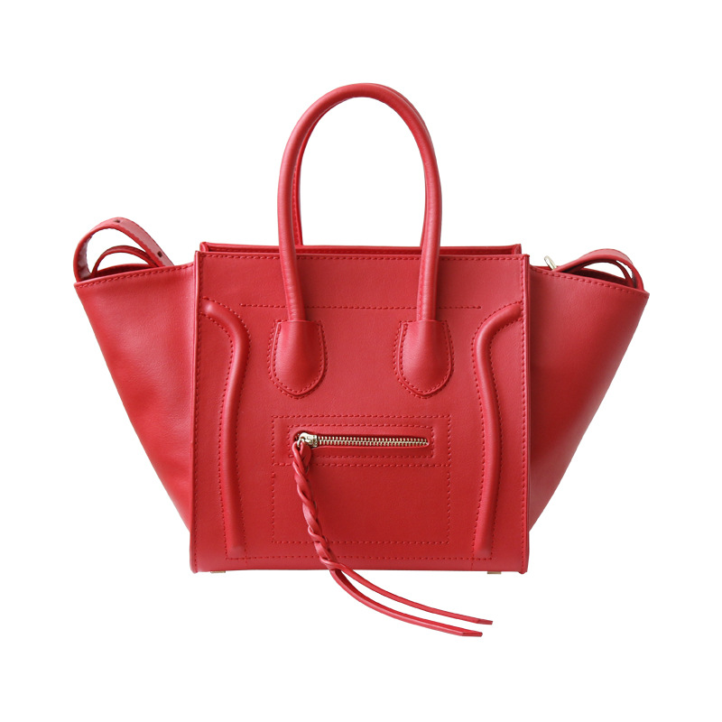 European and American style fashion brand luxury handbags women bags designer smiley shape Genuine Leather women bagEuropean and American style fashion brand luxury handbags women bags designer smiley shape Genuine Leather women bag