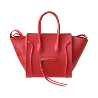 European and American style fashion brand luxury handbags women bags designer smiley shape Genuine Leather women bag