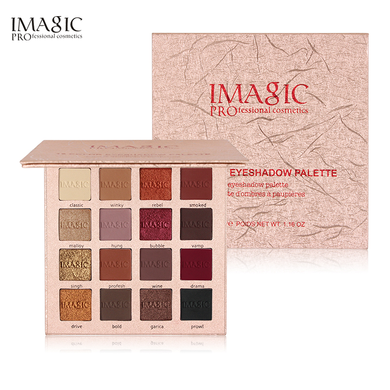 IMAGIC Shimmer eye shadow 16 Colors Diamond Eye Shadow Matte maquiagem Warm Pigment Make Up Set EyeShadows makeup palette