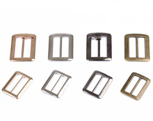 20pcs/lot 20mm/25mm/32mm/40mm/50mm silver bronze gold Square metal shoes bag Belt Buckles decoration DIY Accessory Sewing