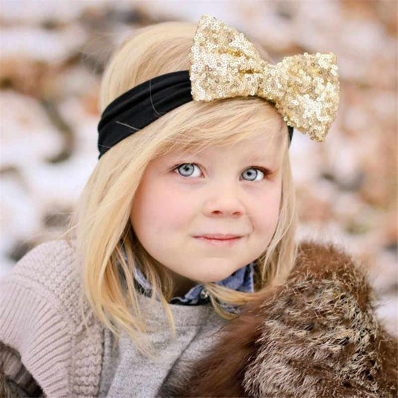 เด็กสาวเลื่อมHeadbandsเพชร13สีผ้าโพกหัววงยืดหยุ่นผมอุปกรณ์เสริมสำหรับสาวผ้าโพกศีรษะอุปกรณ์ถ่ายภาพ