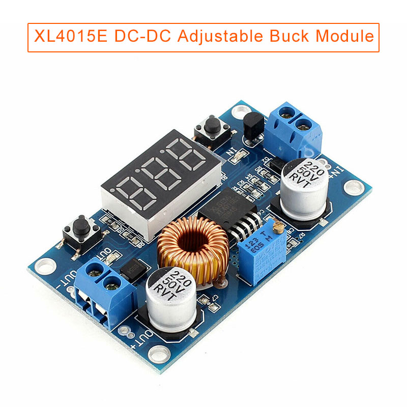 DC-DC Adjustable Step-down Power Module With Voltage Indicator 5A High Power 75W