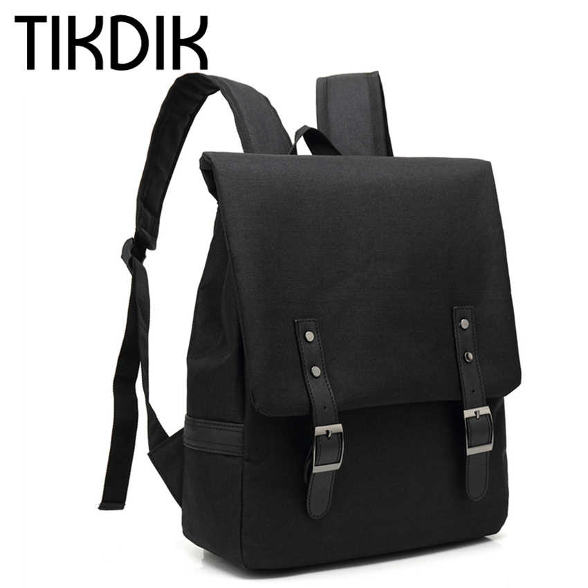 a80599914fed Унисекс холст рюкзаки модные школьные сумки для подростков обувь мальчиков  девочек большой ёмкость путешествия ноутбук рюкзак