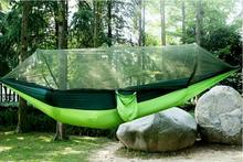 Outdoor mosquito net automatic quick-opening single-double ultra-light parachute cloth hammock anti-rollover indoor swing