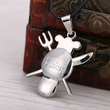 One Piece Metal Pendant Necklace