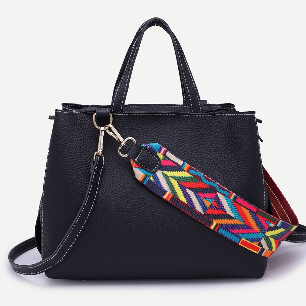 Fashion Colorful Straps Women Handbag Shoulder Bag And Tote Bag Large Tote Ladies Purse Women Shoulder Bag For Ladies Handbag