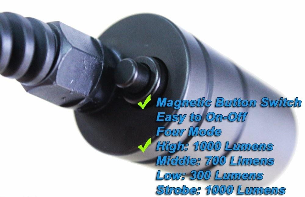 1000lm cree xml2 u2 profissional lâmpada subaquática