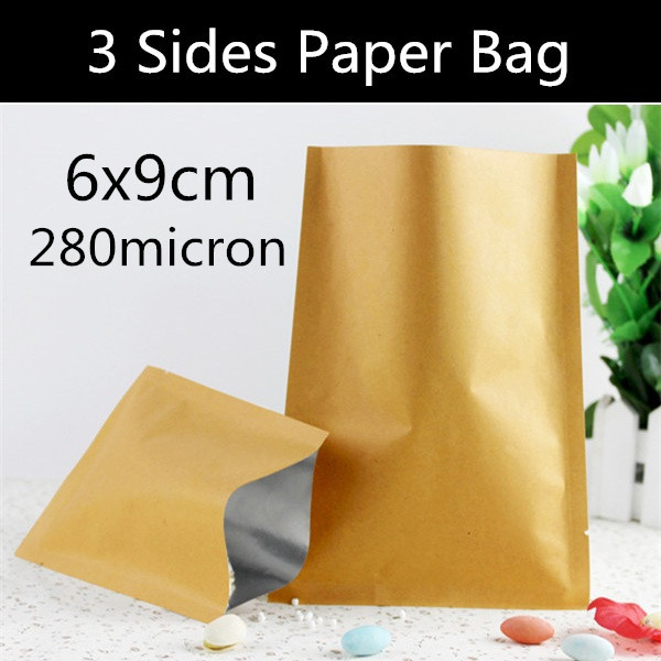 Free Shipping 200pcs 6cm 9cm Small Heat Seal Paper Bag 3 Sides Flat Vacuum Foil Sealed In Storage Bags From Home Garden On Aliexpress