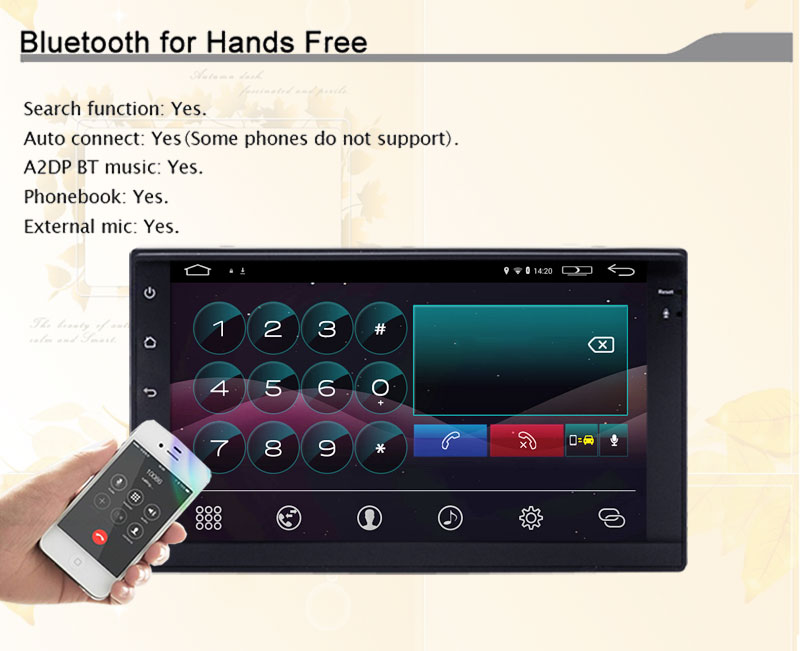 Universal 2 din Android 4.4 Car DVD Player GPS Wifi Bluetooth Radio Quad Core CPU DDR3 Capacitive Touch Screen 3G Car PC Audio
