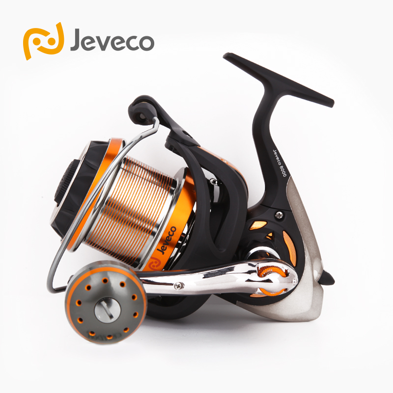 Jeveco 8000 Spinning Fishing Reel, Saltwater Reel Carbon Fiber 5.1:1 9+1BB Reel Fishing, , Extremely Stronger For Sea Fishing\