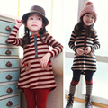 Buenos Ninos Spring / Autumn Baby Girl Striped Clothing Set Children Cloth Long Sleeve Bow Kids Suit 2PCS Top T Shirt + Pants
