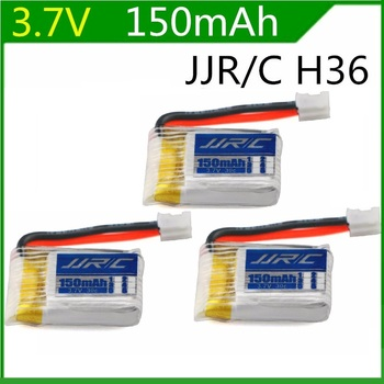 3pcs JJRC H36 3.7V 150mAh Battery For JJRC H36 & Eachine E010 Li-po Battery 3.7V  RC Quadcopter Spares Parts Toys Accessories