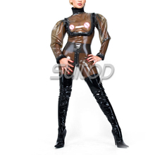0.45 mm thickness heavy latex Exotic Apparel Teddies Bodysuits transparent SUITOP