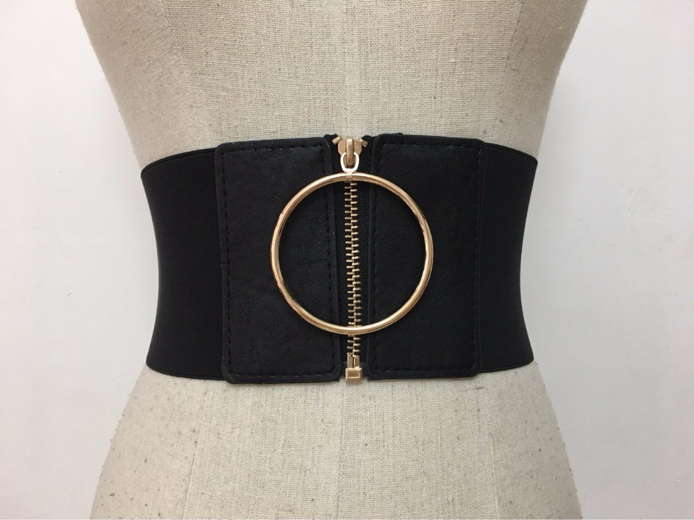 Men's Belts Square Buckle Double-deck Belt Harajuku Zipper All-match Ultra Long Canvas Belt Lovers Brief Solid Color Long Belt
