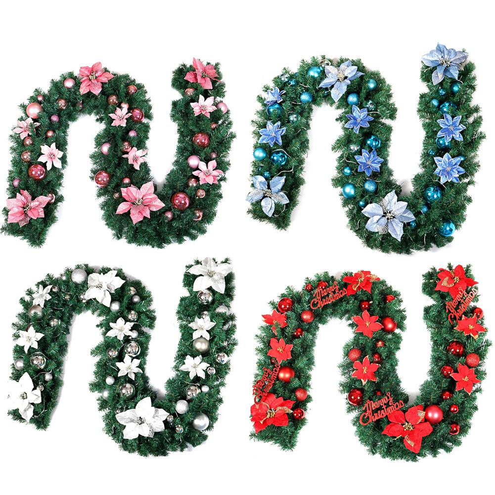 Christmas Wreath 2.7m Decoration Rattan Garland Home Party Christmas Wreath Christmas Decorations For Home