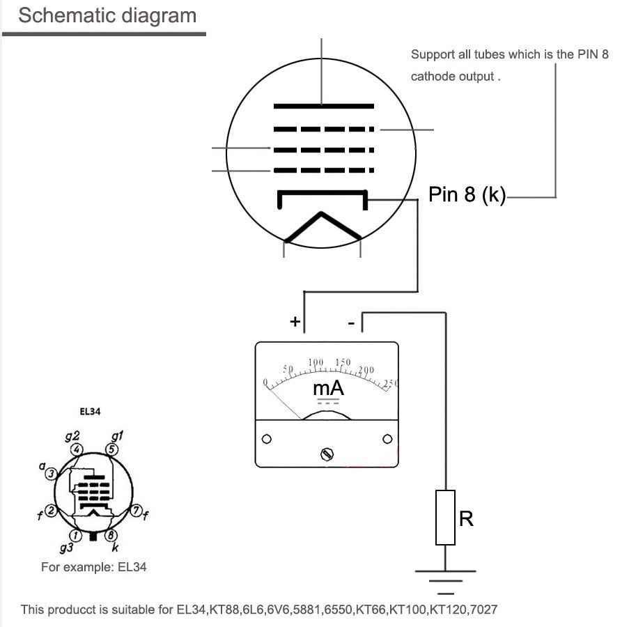 nobsound dual bias current probes tester meter for el34 kt88 6l6 6v6 6550 vacuum tube amplifier  [ 903 x 900 Pixel ]