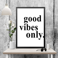 good vibes only canvas painting modern quotes picture wall art print poster HD2140