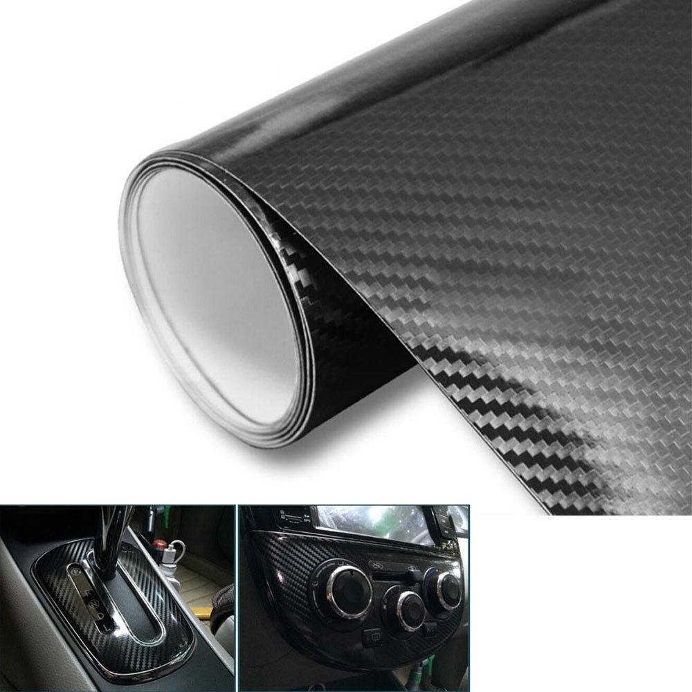 """20 x 60 colių """"pasidaryk pats"""" juodos anglies pluošto vinilo automobilio apvyniojimo stiliaus plėvelės lipdukas, skirtas įbrėžimams, """"Ford Chevrolet"""", """"VW Hyundai Benz"""", įbrėžimams."""