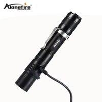 AloneFire X470 Powerful Tactical Led USB Flashlight 18650 Cree XPL 1000lm High Power Flashlight 6 Modes Light Flashlight Lamp