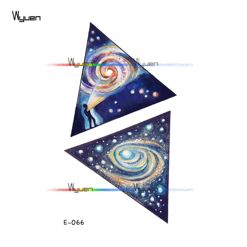 d177d4620 Wyuen Universe Waterproof Temporary Tattoos Nebula Fake Tattoo Stickers Outer  Space Tatoos Adult Men Woman on