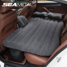 Car Seat Cover Back Set Air Inflatable Bed Universal Outdoor Travel Mattress Auto Soft Bedding Wave Design Air Pump