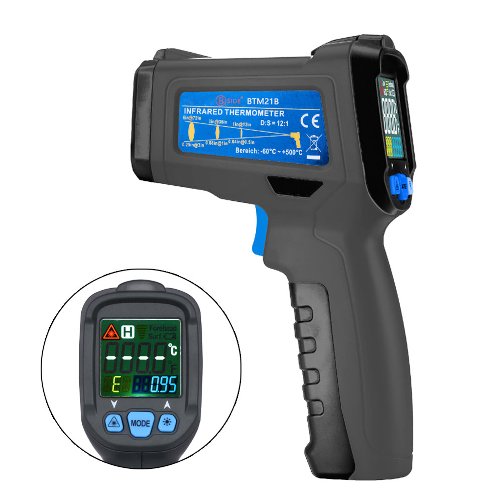 Bside -50-300 Degrees Non-contact Infrared Thermometer Handheld Digital K Type Pyrometer tasi 8606 infrared thermometer 32 380 degrees infrared thermometer non contact thermometer industrial and household