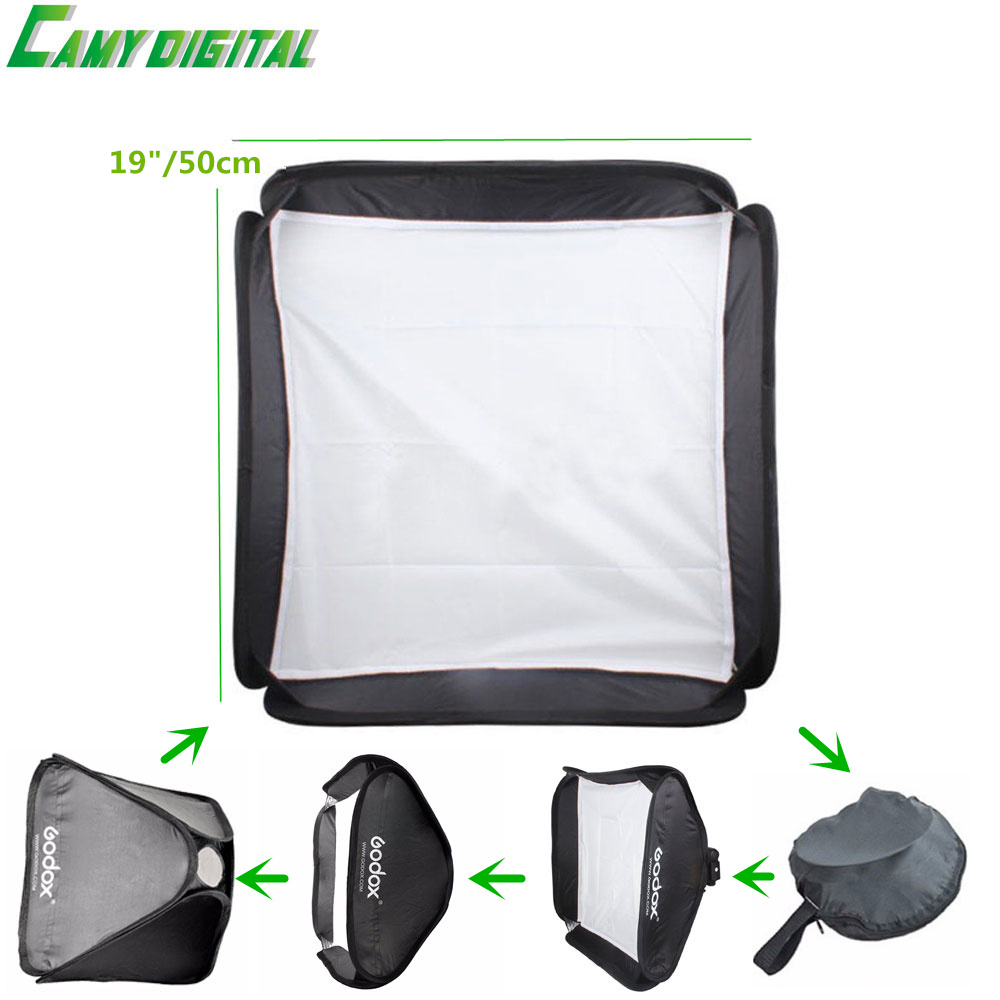 Godox Foldable Portable Only the SoftBox 19/50cm Special For S-Type Bracket For Camera Flash/Speedlite (Only the SoftBox)