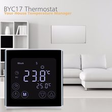 Floureon BYC17GH3 LCD Touch Screen Room Underfloor Heating Thermostat Weekly Programmable Thermoregulator Temperature Controller(China)