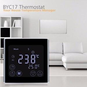 Image 1 - Floureon byc17gh3 lcd tela de toque quarto aquecimento por piso radiante termostato semanal programável termorregulador controlador temperatura