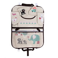 Cartoon Car Seat Back Bag Oxford Cloth Auto Chair Hanging Storage Bag Pocket For Magazine Cup