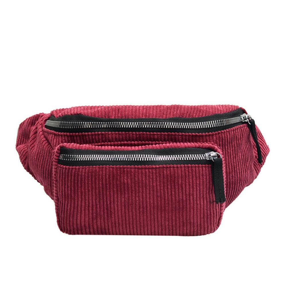 Belt Waist-Bag Shoulder-Bags Fanny-Pack Girls Large Women Fashion Satchel New Corduroy