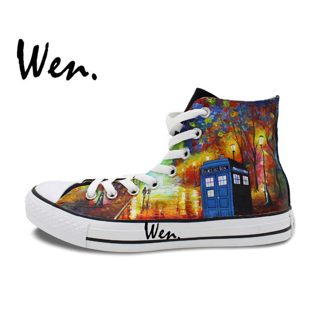 659dd53d19 placeholder Wen Hand Painted Shoes Design Custom Doctor Who Farewell To  Anger From Leonid Afrem Men Women s