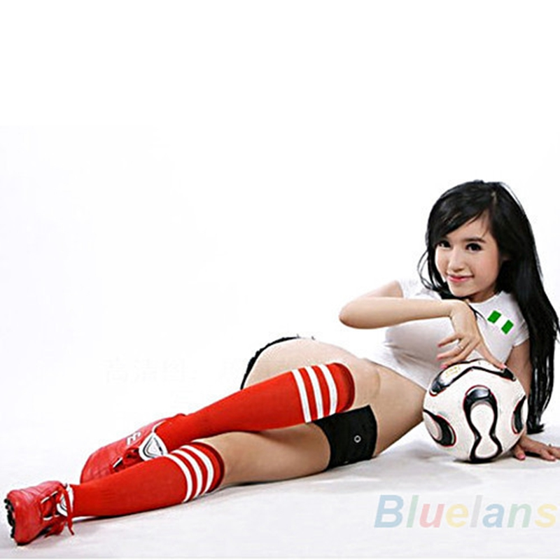 1 Pair sexy Women long stockings Three bars striped sports football student in adult