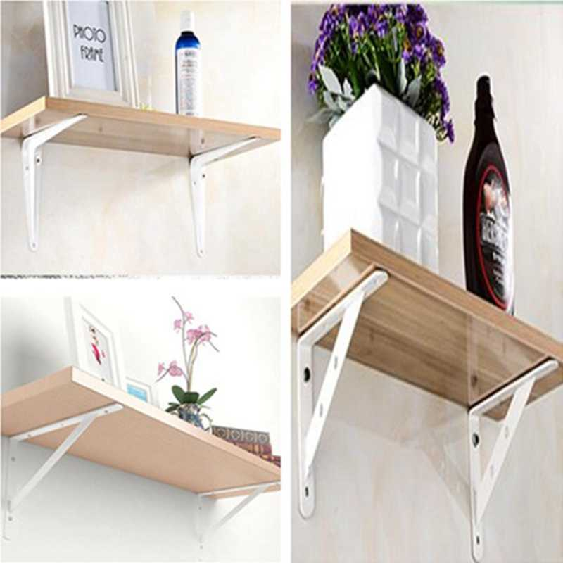 Astounding Tv Tablecabinet Folding Mounting Triangle Bracket Steel Glass Wall Mounted Shelves Home Interior And Landscaping Oversignezvosmurscom
