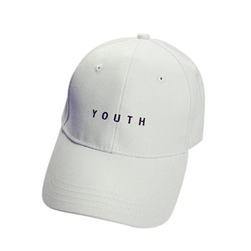 2018 Caps Youth Baseball Letter Men Woman Adjustable Caps Casual Hats Solid  Color Black White Fashion Snapback Summer Fall Cap-in Baseball Caps from  Apparel ... 7729dc1ca518