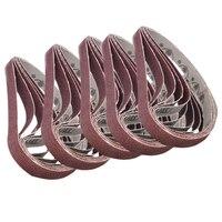 20 шт шлифовальные ремни 40Grit-120Grit смешанные силовые ленты абразивные шлифовальные станки Электроинструмент 13 мм * 457 мм для абразивного ремня
