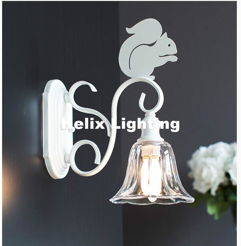 White Iron Nordic LED Retro Wall Lamp Bedside Lights in Nordic Style Vintage Decorative Lighting Home Bar Bedroom Luminaire Lamp modern lamp trophy wall lamp wall lamp bed lighting bedside wall lamp