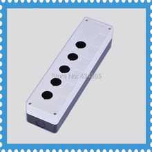 Manufacture 22mm Diameter  Pushbutton Switch Box Control Station Case of 5 hole colour white