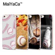 MaiYaCa Play Baseball Laces Transparent TPU Soft Cell Phone Protective Cover For iPhone 4s 5s 6s 7 7plus case