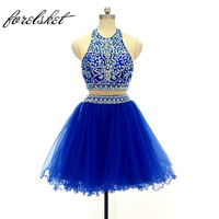 Mini Homecoming Dress Short Prom Dresses 2017 Different Colours Cheap A Line Sexy Beaded Crystal Graduation