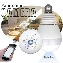 Wireless Wifi Light Camera Bulb IP 360 Panoramic Night Vision Infrared Motion Detection 360 Video Camera Surveillance Home Cams home security vr panoramic camera wifi 960p hd monitor ip camera wireless video surveillance night vision alert motion detection